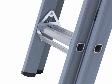 Dirks, klapgrendel vergemakkelijkt het uitschuiven van (langere) ladders p/s