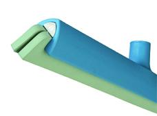 Vloertrekker + cassette blauw 40 cm SQCAS4b